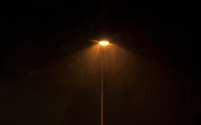 Picture minimal, Rain, Lampost