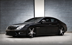 Picture black, Mercedes, CLS 55