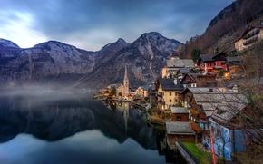 Wallpaper landscape, mountains, lake, reflection, home, Austria, Alps, Austria, Hallstatt, Alps, Lake Hallstatt, Hallstatt, Lake Hallstatt