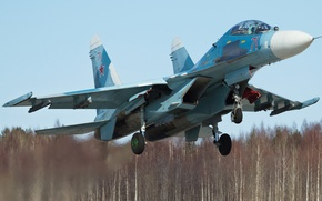 Picture chassis, BBC, Su-27UB, Flanker-С, double training-combat fighter