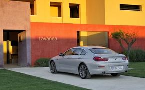 Picture BMW, Machine, Grey, BMW, The building, Sedan, 6 Series