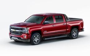 Picture Chevrolet, white background, Chevrolet, pickup, Silverado, silverado