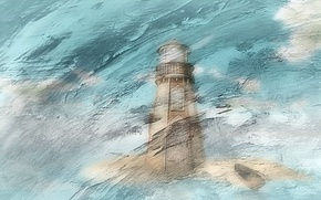 Picture background, lighthouse, color