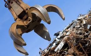 Picture recycling, Scrap metal, scrap metal, metal claw