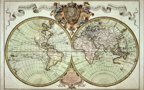 Wallpaper travel, old, map