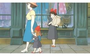 Picture street, surprise, package, the sidewalk, black cat, shop, showcase, MOP, Kiki's delivery service, jiji, hayao …