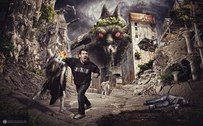 Picture zombies, Monster, male, horror, disintegrated