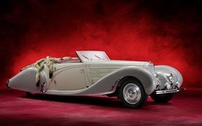 Picture Bugatti, retro, Cabriolet, old car, Type 57C