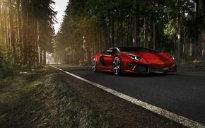 Wallpaper road, tuning, Lamborghini, aventador, lamborghini aventador mansory