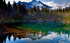 Picture landscape, mountains, lake