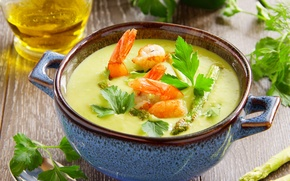 Picture the first dish, the first dish, soup with seafood, soup with seafood