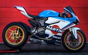 Picture ducati, martini, superbike, panigale, 1199, martini racing, tricolor