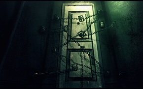 Wallpaper the door, horror, game, Silent Hill 4, the room