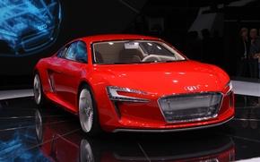 Wallpaper e-tron, exhibition, Audi