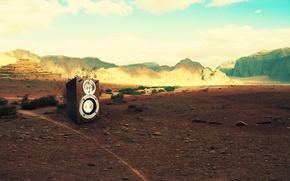 Wallpaper mountains, music, stones, creative, landscape, manpower
