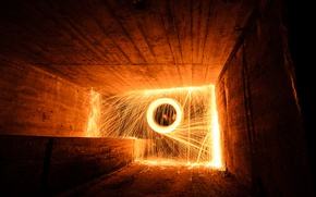 Picture excerpt, fireworks, Tunel