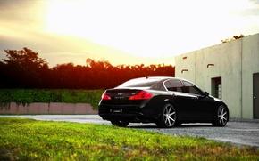 Picture Infiniti, black, vossen, Sedan, G37