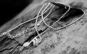 Picture metal, bark, chain, note, suspension