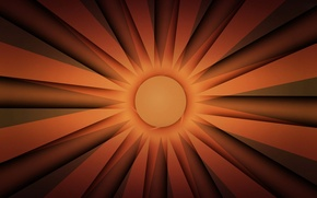 Picture the sun, rays, light, line, strip, round