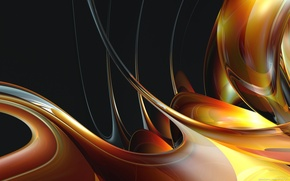 Wallpaper color, honey, line, abstraction