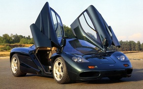 Picture background, McLaren, door, McLaren, supercar.hypercar, green.the front, XP5