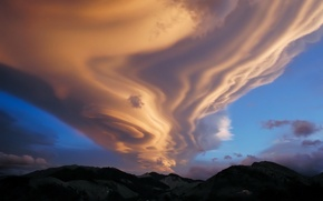 Picture hills, Clouds, unusual