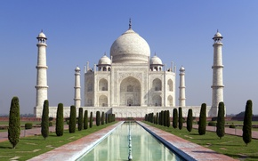 Picture castle, India, monument, temple, Taj Mahal, The Taj Mahal, Agra, India, casstle, Uttar, Pradesh