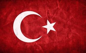 Picture red, flag, red, Turkey, Turkey, Flag, Islam, islam