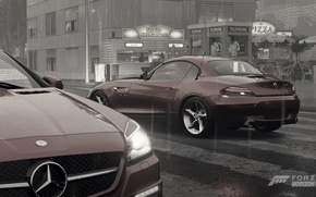Picture rain, BMW, mercedes, Noir, epic, Forza horizon