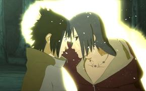 Picture look, surprise, anime, Uchiha Itachi, ninja, Uchiha Sasuke, Naruto Shippuden, the reunion of the Uchiha …