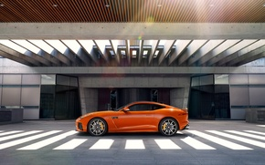 Wallpaper orange, coupe, Jaguar, Jaguar, Coupe, F-Type