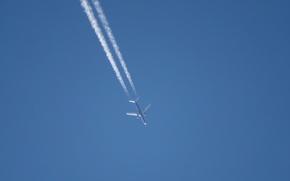 Wallpaper the sky, minimalism, the plane