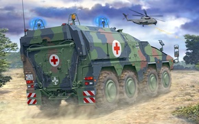 Picture figure, art, Boxer, Armoured Transport Vehicle Boxer, GTK, BMM, Armored medical car
