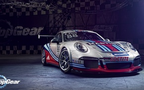 Picture Top Gear, Porsche 911, GT3 Cup, Martini Racing