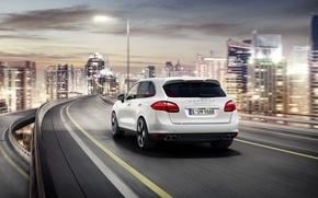 Picture road, auto, the city, jeep, Porsche, Porsche Cayenne, Cayenne