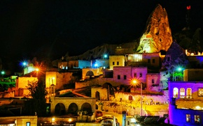 Picture night, Turkey, night, Turkey, Cappadocia, Cappadocia