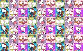 Picture background, texture, art, Hello Kitty, children's, girls, Kitty