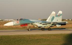 Wallpaper Su-27, fighter, the airfield, multipurpose