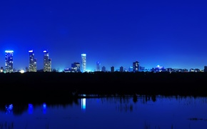 Picture night, the city, lights, panorama