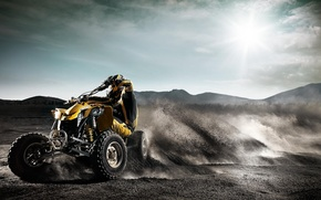 Wallpaper ATV, Skid, Sand