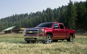 Picture red, truck, pickup, 1500, bed, chevy, large, 2014, Chevrolet Silverado, North America, size, double cab, ...