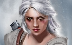 Wallpaper Ciri, look, girl, Witcher 3: Wild Hunt, art