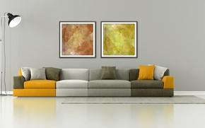 Picture sofa, interior, interior, couch, stylish design, stylish design, Minimalist lounge, minimalist lounge