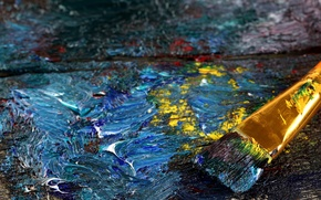 Wallpaper ART, COLOR, PALETTE, PAINTING, CANVAS, SMEAR, MIXING, TEXTURE, BRUSH, OIL, HAIRS, PAINT, BRUSH, BACKGROUND