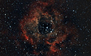 Picture space, stars, Nebula, Outlet, Unicorn, NGC 2237, in the constellation, Rosette