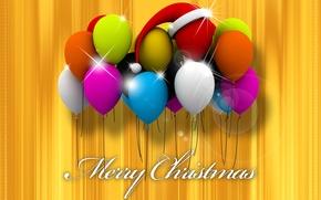 Picture balls, paint, Christmas, cap