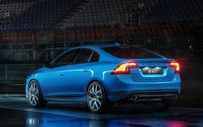 Picture blue, lights, Volvo, Volvo, S60, Back, Polestar