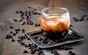 Picture coffee, grain, cocktail, drink, glass