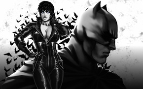 Picture Catwoman, DC Comics, art, batman, the dark knight, superhero, Catwoman, girl, chest, Selina Kyle, bruce ...