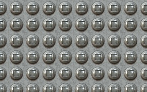 Picture surface, metal, glare, grey, background, round, buttons, texture, square, relief, rivets